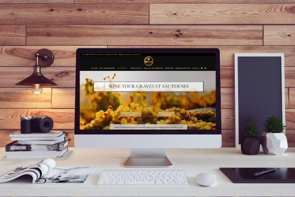 réalisation de soon digital en creation de site web tourisme du vin